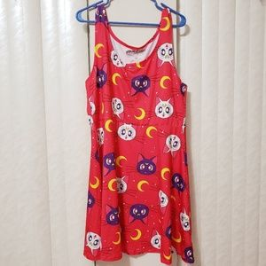 NWT Hot Topic Red Sailor Moon Dress